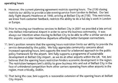 excerpt from bmi's January 2005 response to Planning Agreement consultation