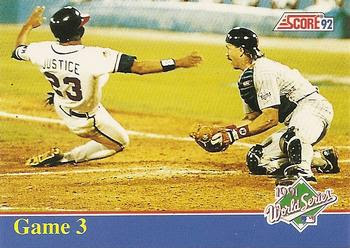 1992 Score - Factory Inserts #B3 Mark Lemke / David Justice Front