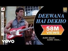 Deewana Hai Dekho Full Video - K3G Hrithik Roshan Kareena Kapoor Alka Yagnik Sonu Nigam