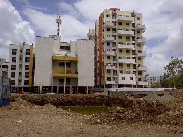 Excavation of the plot of E Wing of Sneha Paradise, near Warje Police Station, Warje, Pune 411 052