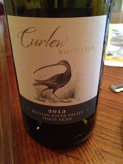 Pinot Noir   Curlew Vineyards 2013 Russian River Valley
