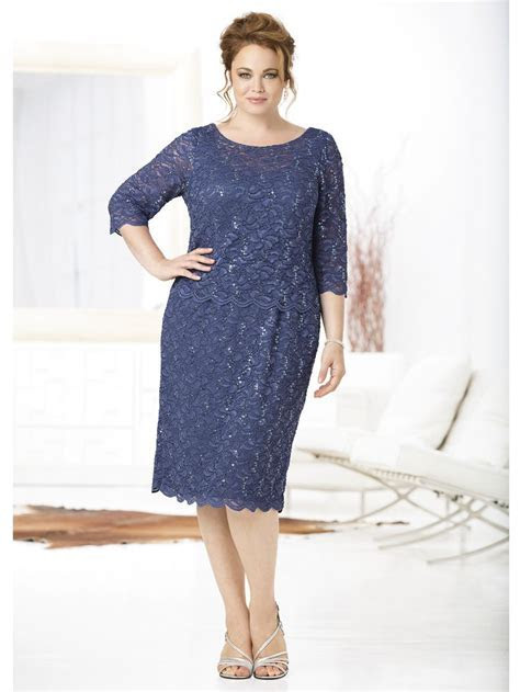 Lace Allure Layered Dress   Plus Size Special Occasion
