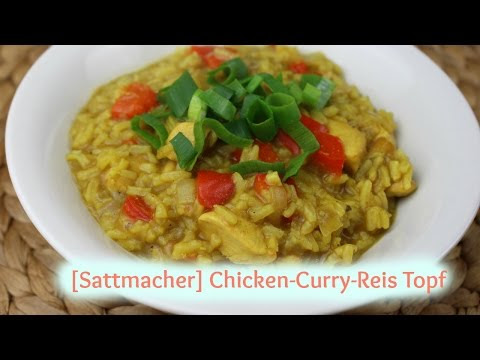 Sattmacher Chicken Curry Reis Topf Rezept nach Weight Watchers®