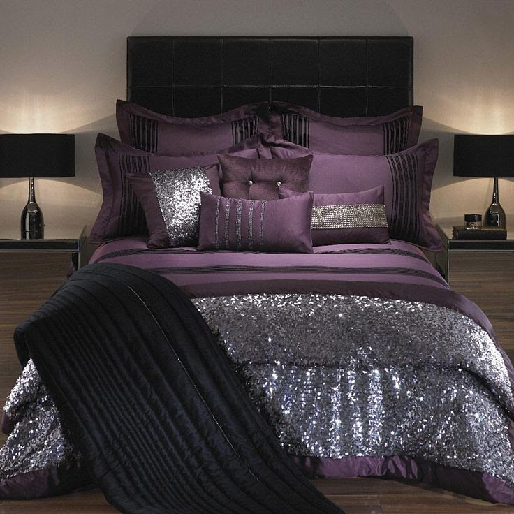 Sequin Bedding? Yes Please! Kylie Minogue At Home Carita Bed Linen Damson