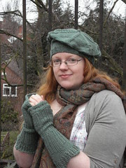 Russell Square mitts and tam coordinating pattern set now available on Patternfish