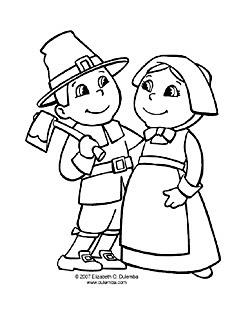 pilgrim boy and girl coloring pages | dulemba: November 2007