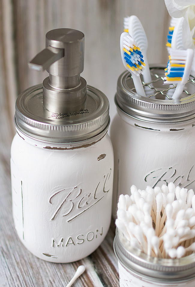 Mason Jar Bathroom Storage Accessories Mason Jar Crafts Love