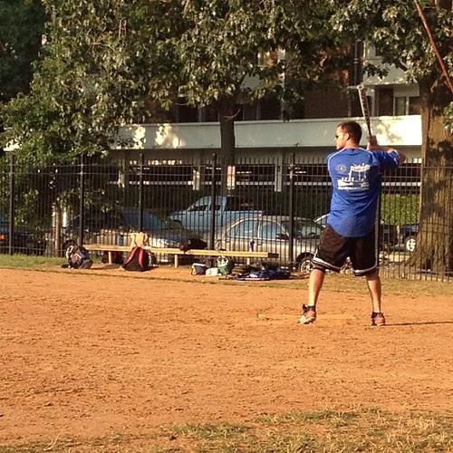 Jason at bat