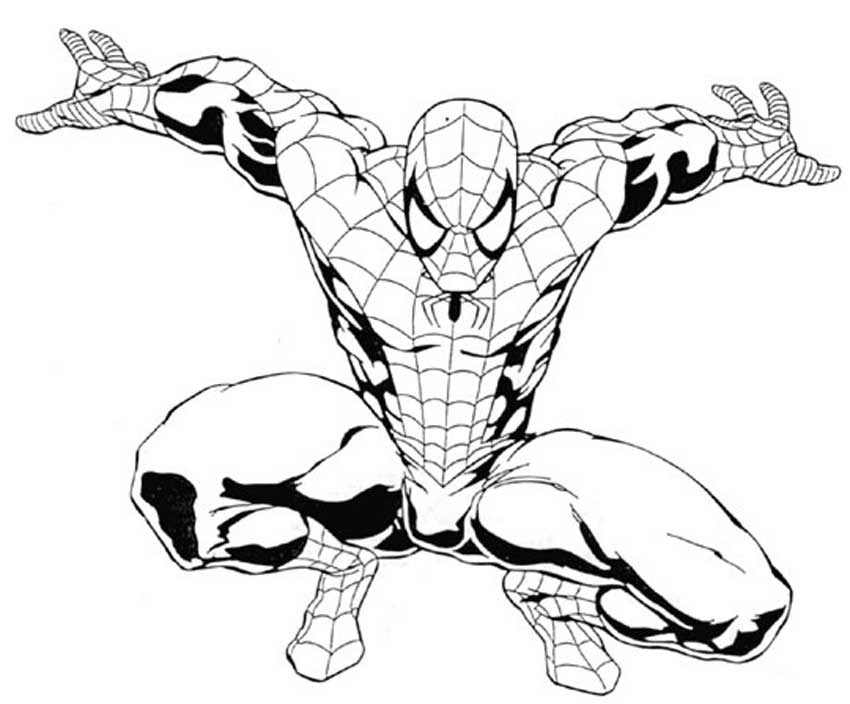 Spiderman Outline Drawing at GetDrawings   Free download