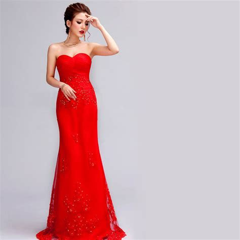 Wedding Dress Red   Dresscab