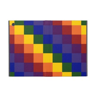 Checkered Rainbow iPad Mini Cases