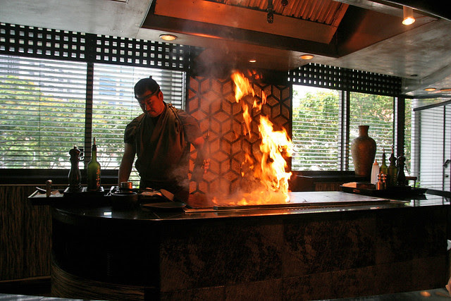 Who doesn't love a teppan flambe?