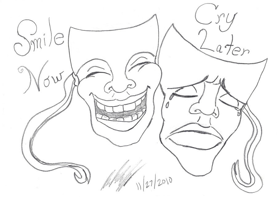 Laugh Now Cry Later Drawing At Getdrawingscom Free For Personal