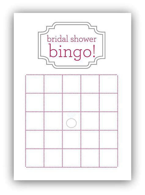 Bridal Shower Bingo Card by gracefully made designs on