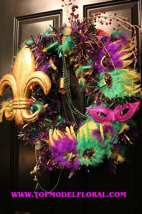 Mardi Gras Wreath Ideas   Unique Floral Arrangements By