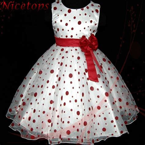 girl reds christmas wedding dress flower girls dresses