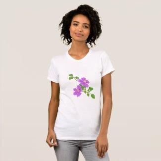 Purple Grass Flowers T-Shirt
