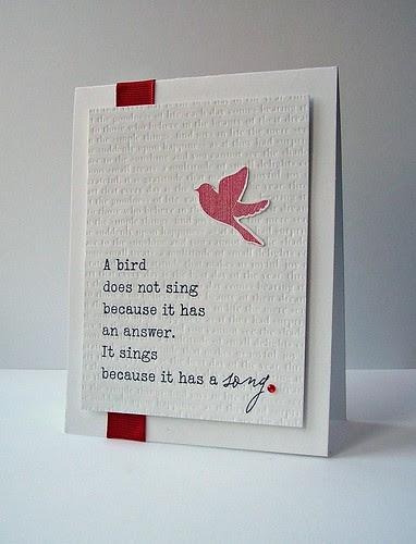 A bird...