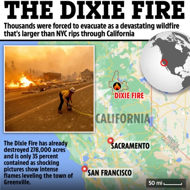 Raging Wildfires Destroy California ( Pics, Video)
