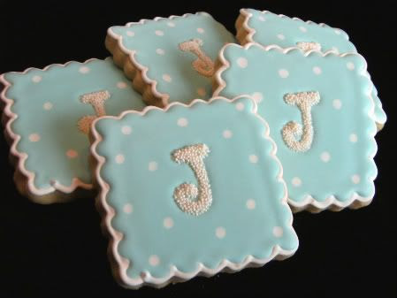 J monogram cookies
