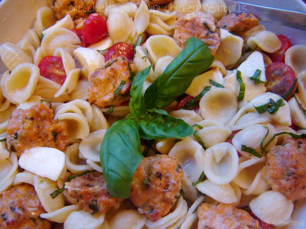 Orecchiette with Mini Chicken Meatballs 1