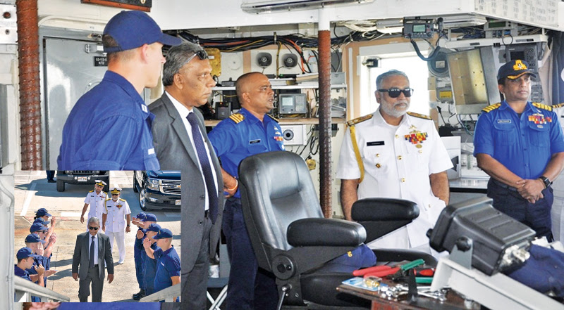 Defence Secretary visits crew onboard Ex-USCGC 'Sherman' in Hawaii