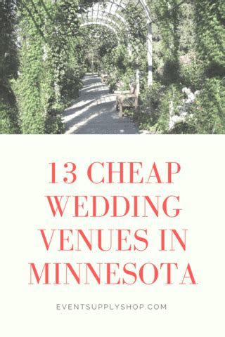 13 Inexpensive Wedding Venues in MN ? Event Supply Shop