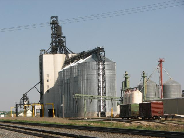 Modern grain elevator at Indian Head SK