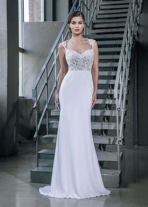 Mermaid Queen Anne Neck Cap Sleeves Open Back White Lace