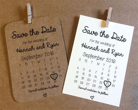 10 Personalised Magnetic Save the Date cards Rustic Shabby