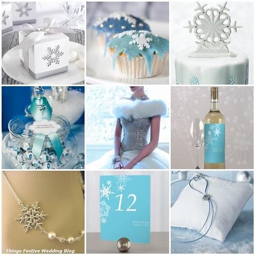 Winter Wedding Menu Ideas: Blue And White Winter Wedding