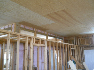 Great Room/Bathroom Final Ceiling Panels in Place