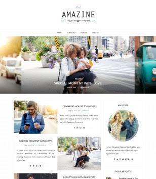 Amazine Modern Blogger Templates
