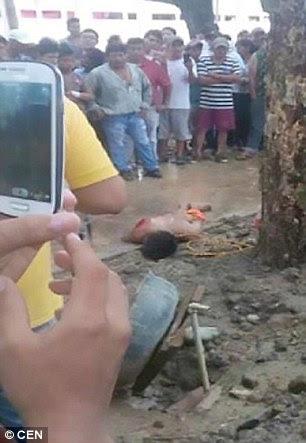 Bystanders took videos on their phones