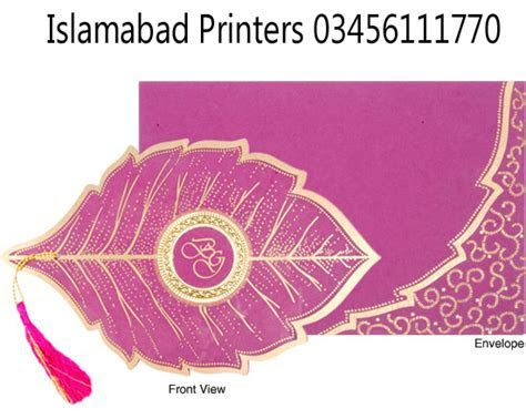 Wedding Cards Designs With Price ? Islamabad Printers