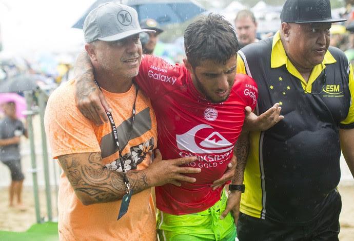 Filipe Toledo lesão Gold Coast surfe (Foto: Kirstin Scholtz/WSL)
