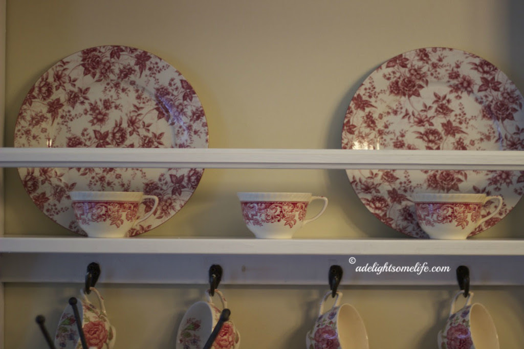 A Delightsome Life Red Chintz dishes