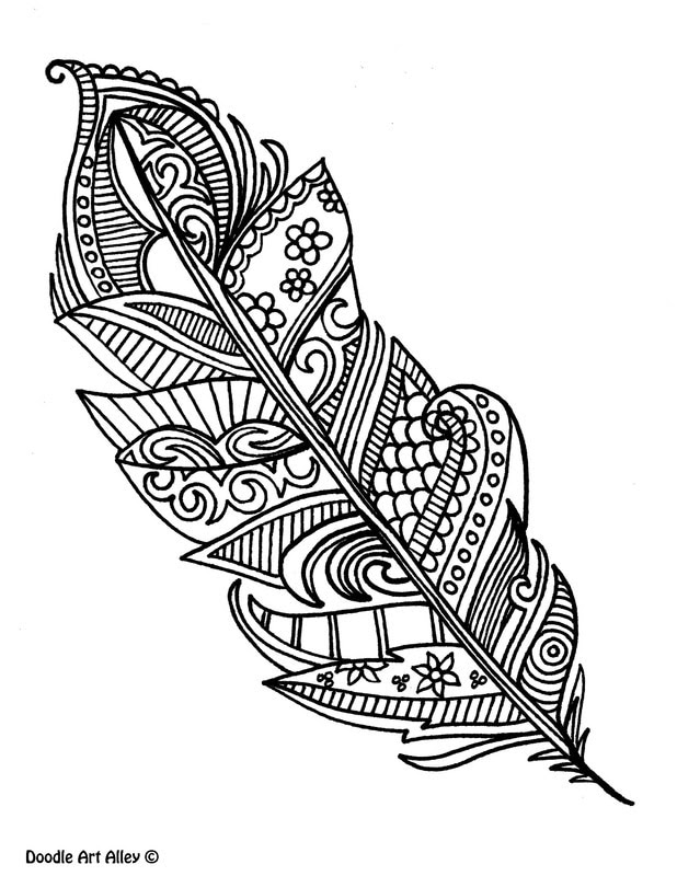 Holiday Coloring Pages - Doodle Art Alley | 800x618
