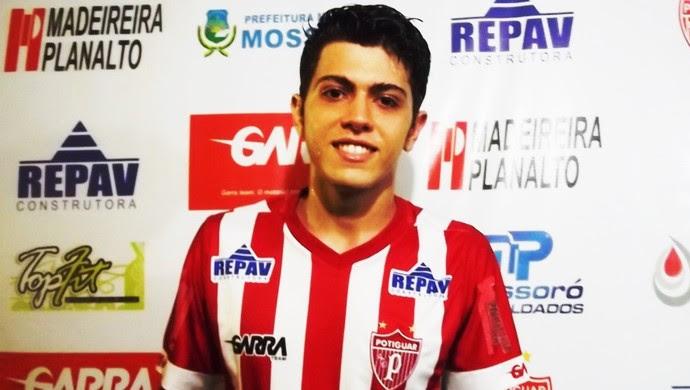 Sávio Flamengo, atacante do Potiguar de Mossoró (Foto: Marcelo Diaz/Divulgação)
