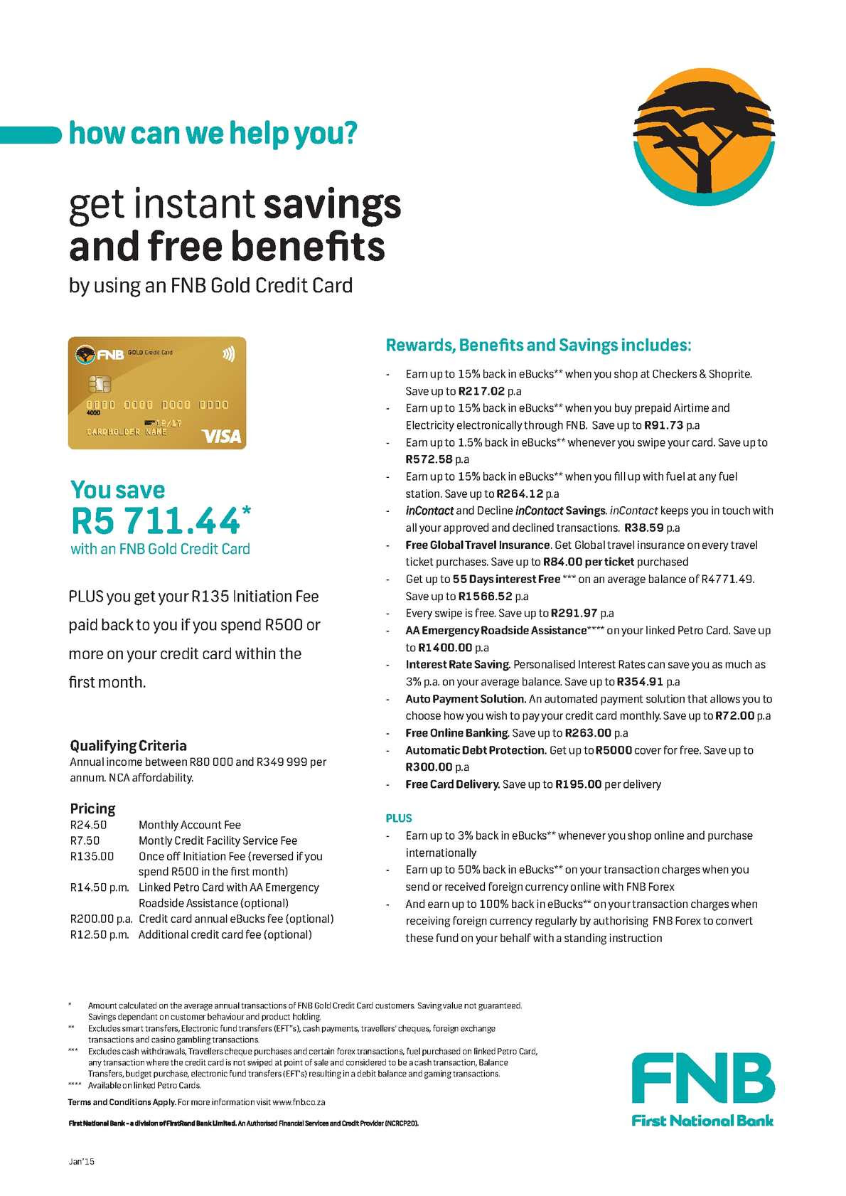 Calaméo - Instant Savings and Free Benefits by Using an FNB Gold Credit Card