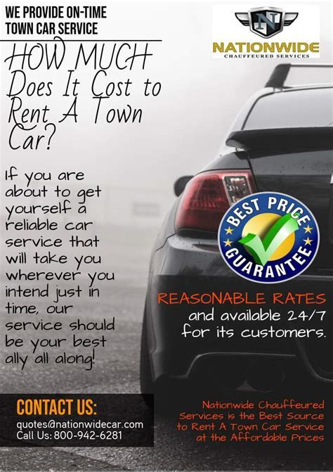 How Much Does It Cost to Rent A Town Car Service? 800 942 6281