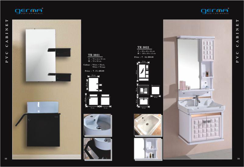 Product Catalogue Designs - GERMA Sanitarywares, Chennai. Page 1