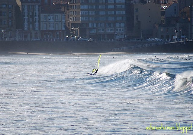 Beach break point Gijón