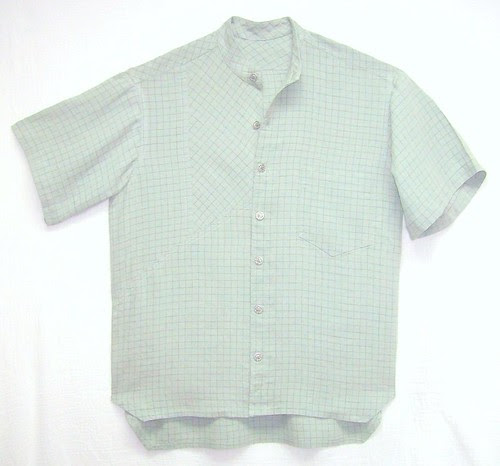 Slouchy Linen Men's Shirt by Pamela Erny