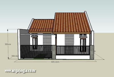 gambar rumah type 36 luas tanah 60