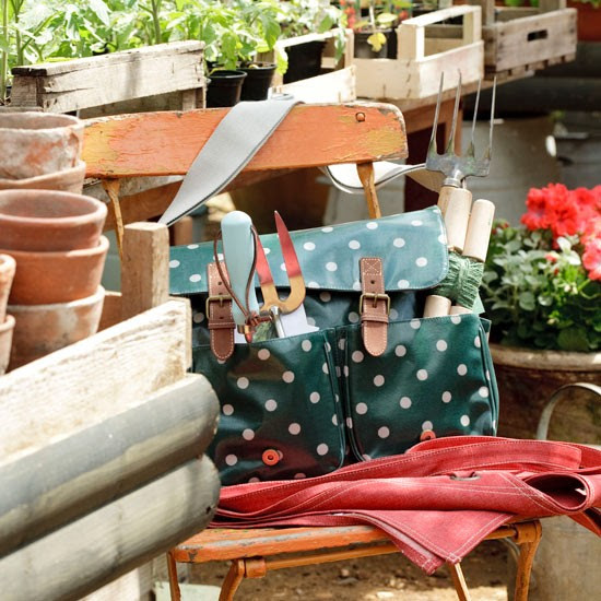 Polka dot saddle bag | Country garden design | Garden buys | Garden | PHOTO GALLERY | Housetohome