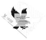 Eagle Silhouette Yard Art Woodworking Pattern - fee plans from WoodworkersWorkshop® Online Store - eagles,silhouettes,birds o fprey,animals,wildlife,yard art,painting wood crafts,scrollsawing patterns,drawings,plywood,plywoodworking plans,woodworkers projects,workshop blueprints