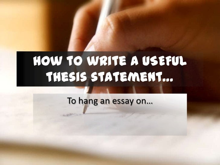 how to write a qualifying thesis statement