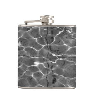 Light Reflections On Water: Black & White Flasks