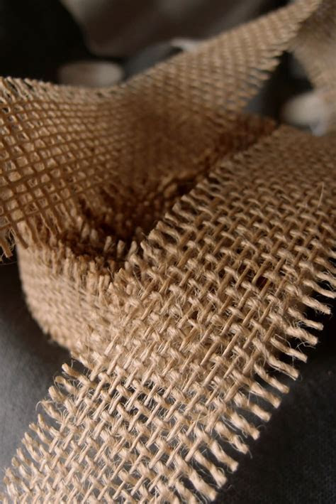 "Natural Burlap Ribbon Open Weave 1 1/2"" x 10 yards"